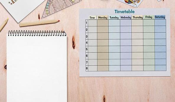 Thiết kế bảng thời gian biểu