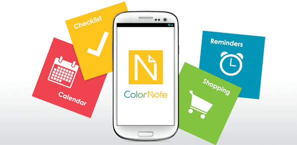 ColorNote là phần mềm cho phép bạn lên thời gian biểu làm việc trong một tuần
