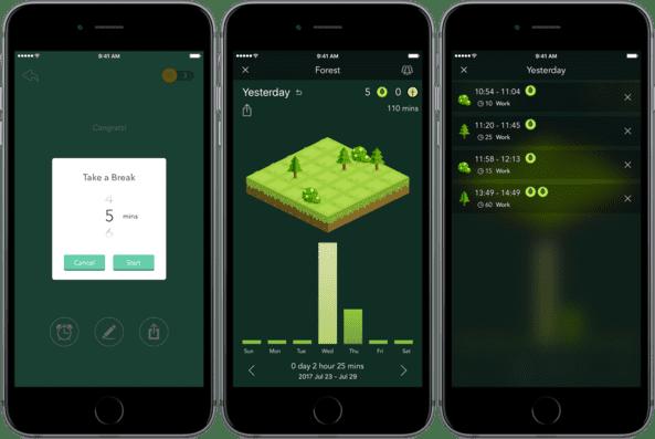 Forest là một trong những phần mềm quản lý thời gian hiệu quả