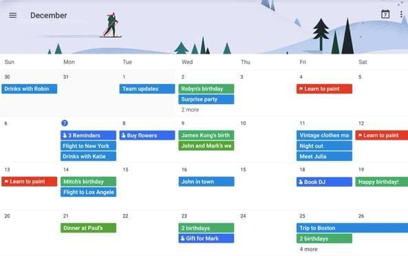 Google Calendar là app quản lý thời gian do Google phát triển