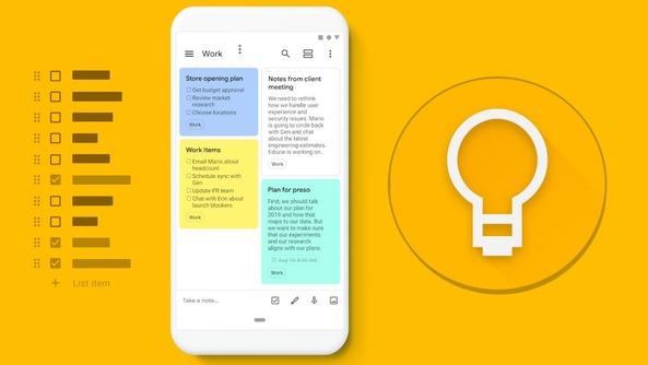 Google Keep là ứng dụng quản lý công việc đơn giản và nhẹ nhàng của Google